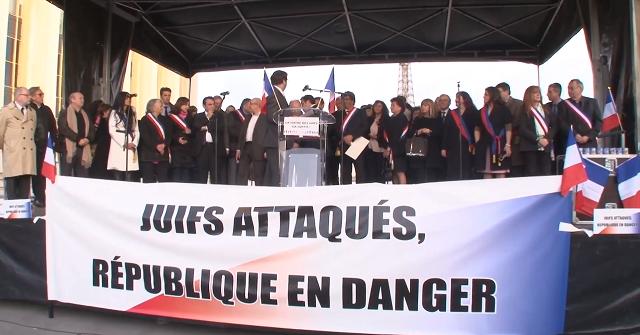 Mars 2014 – Manif sur le Trocadéro contre l'antisémitisme
