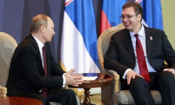 Poutine et Vucic (Serbie)