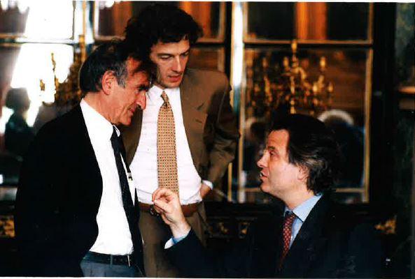 Elie Wiesel, Jean-Philippe Moinet et Franz-Olivier Giesbert, c'était en 1996. Mémoire vivante.