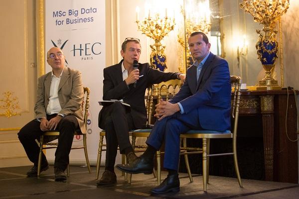 Eric Moulines, professeur à l'Ecole polytechnique, Jean Philippe Moinet, fondateur et directeur de la Revue Civique, et Julien Levy, professeur à HEC Paris
