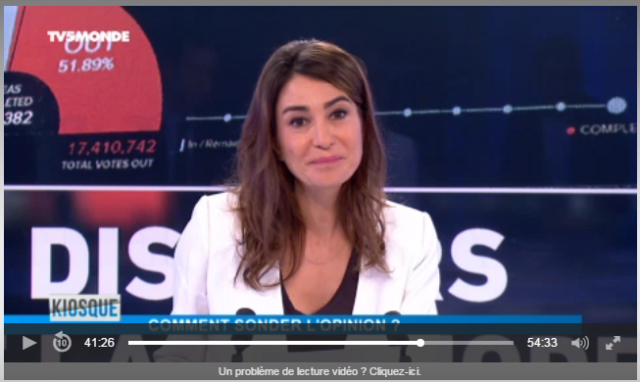 "Silvia Gracia, journaliste, animatrice du ""Kiosque"" de TV5Monde"